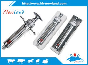 2017 NL201Stainless Steel Animal Syringe Veterinary Lab Pet Injector