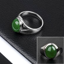 Fashion Stainless Steel Green Emerald Ring(DR10151)