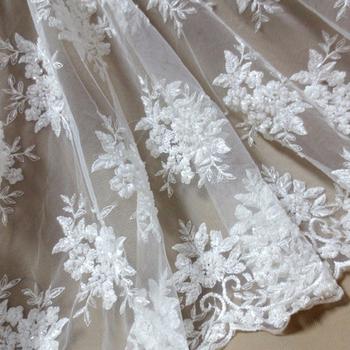 050ca8b902027 french lace fashion bridal wedding lace fabric Handmade beaded tulle fabric