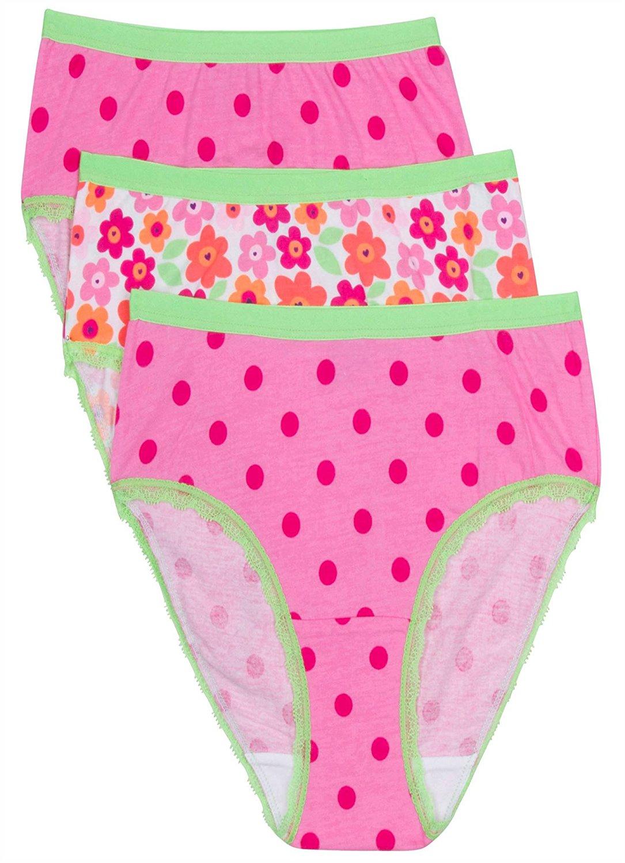 964acf19526d Jockey Girl's Underwear Girls Hipster - 3 Pack, Pink Floral/Pink Dot, ...
