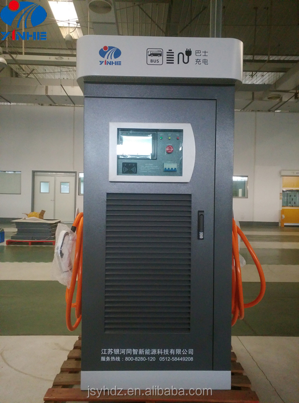 SAE J1772 standardized EV charging station in DC level 2 with SAE combo connector