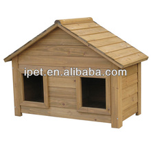 Top selling wooden dog house with two doors DK003M