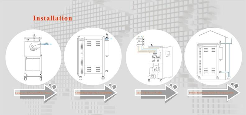 43 Kg/std 30kw Elektrische Dampferzeuger Für Heizung Für Beton ...