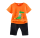 Boys summer suit 2018 cotton children's short-sleeved T-shirt casual two-piece set
