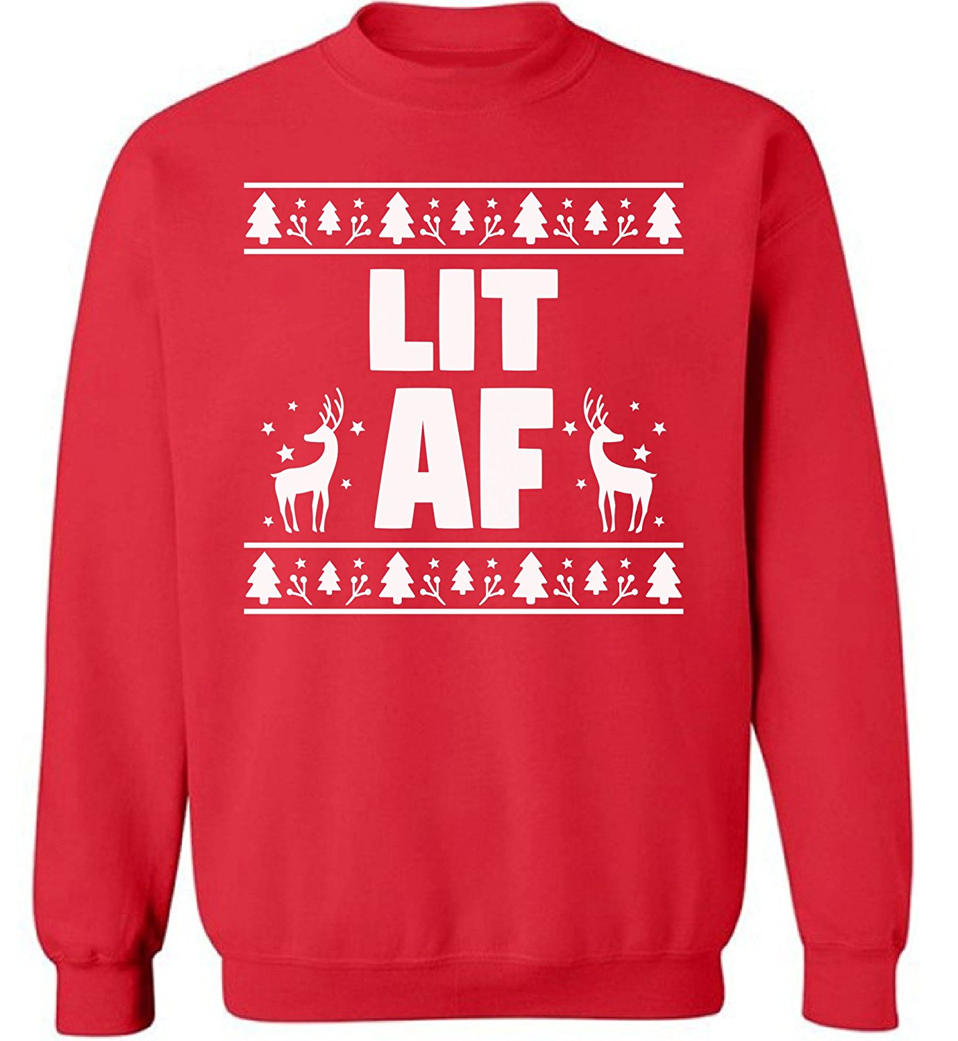3306d56100c Get Quotations · Pekatees Lit AF Sweatshirt Ugly Christmas Sweater Lit AF  Sweater Ugly Christmas Sweatshirts Christmas Lit Sweaters