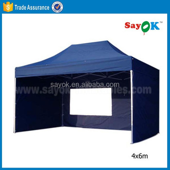4x6 aluminum gazebo tent canopy flat top folding canopy tent for