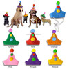 2017 new hot sale trendy ornament wholesale fabric gift handmade craft felt plush dog decoration Christmas cap hat made in China
