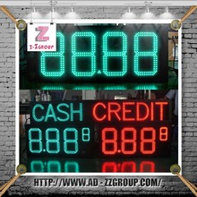 LED Gas Price Display Gas Station Price Sign Digital Totalizer