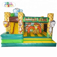 safari park inflatable jumping bouncer castle