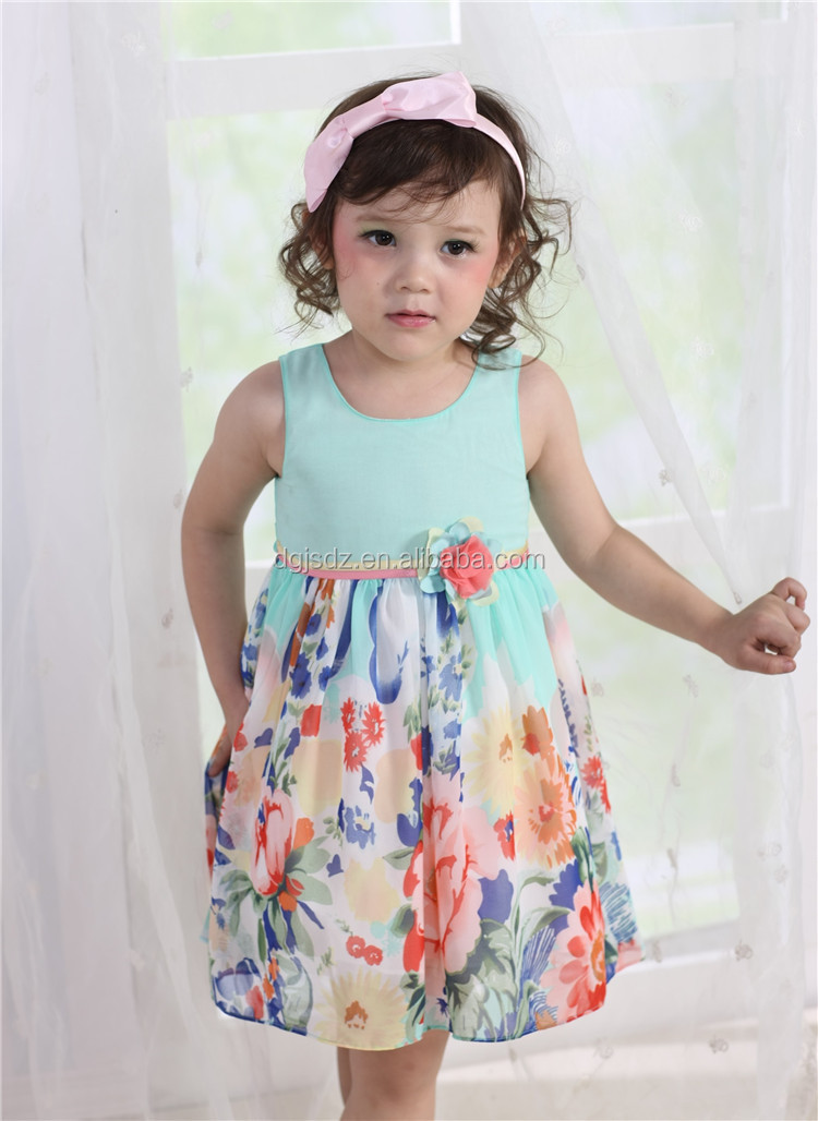 Kids Clothes 2015 Summer Wholesale Fashion Cotton Frock Baby Girls 2