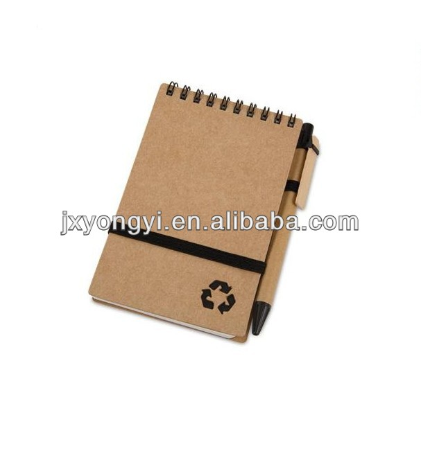 2013 eco friendly spiral notepad with pen