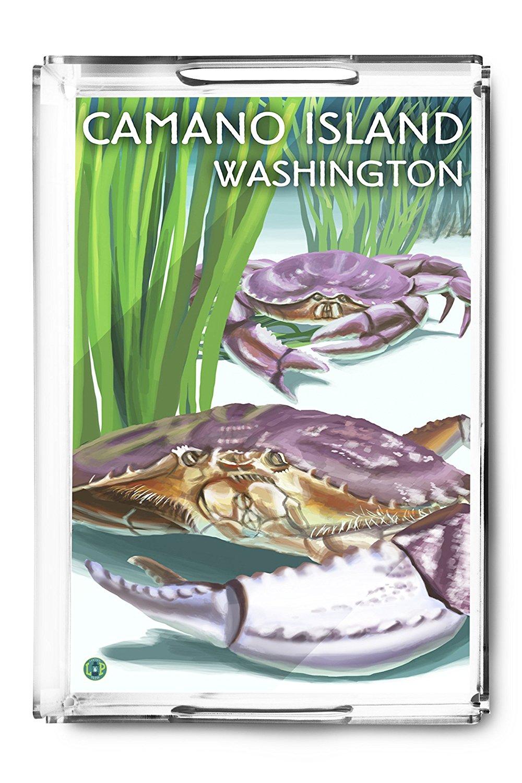 Camano Island, Washington - Dungeness Crab (Acrylic Serving Tray)