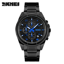 skmei 3atm quartz stainless steel back watch black quartz wrist watch