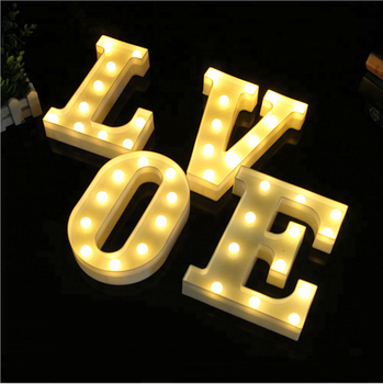 Diy Wedding Holiday Party Plastic Marquee Decor Led Alphabet Letter Lights