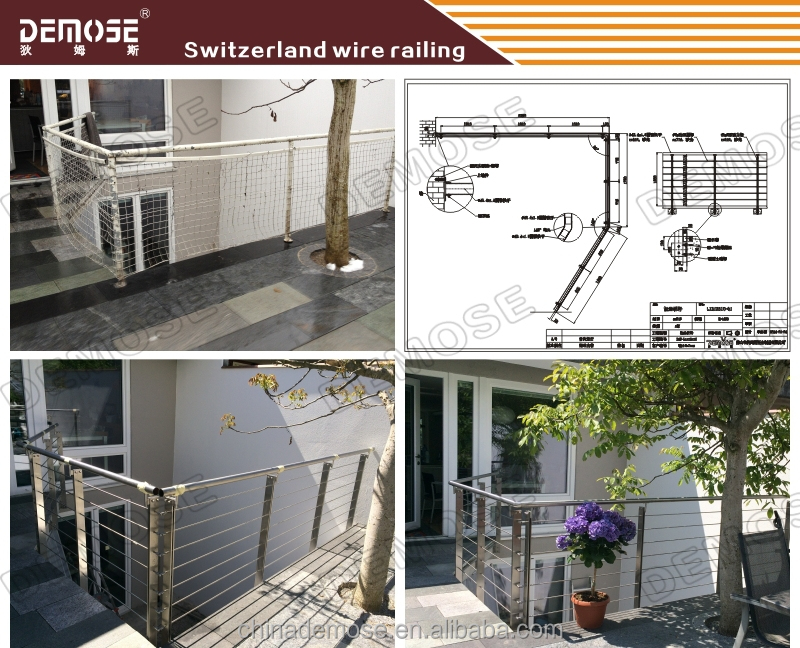 Stainless Steel Outdoor Cheap Deck Railings For Sale
