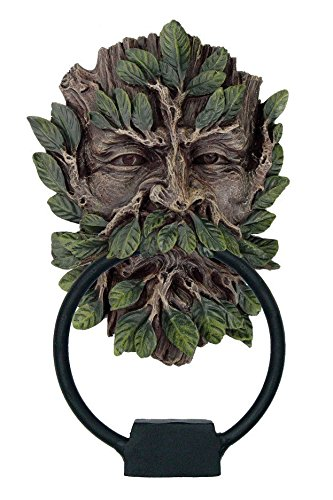 7 Inch Greenman Mystic Tree God Door Knocker Resin Statue Figurine