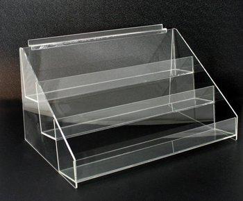 Acrylic Slatwall 3 Tier Display Shelf Holder Rack