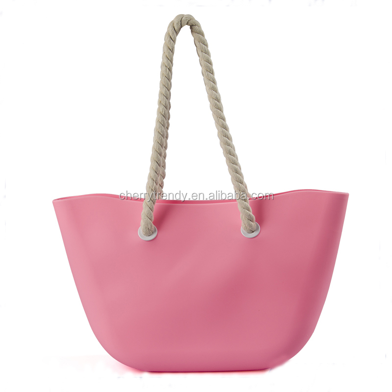 Summer Waterproof Beach Bag Candy Color Silicone Rubber Tote Bag ...