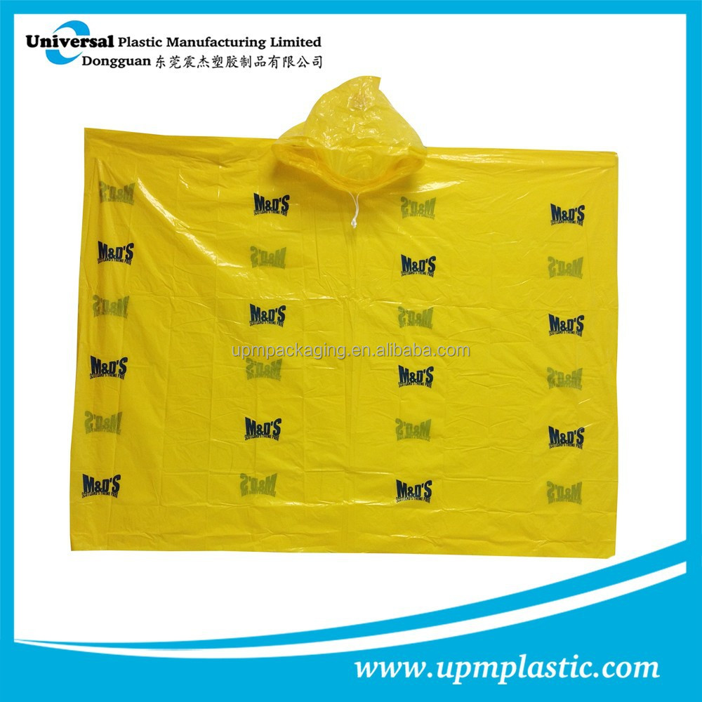 one time use compostable biodegradable promotion raincoats