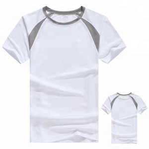 Sportswear dri-fit polyester fabric t-shirt mesh spliced running tee