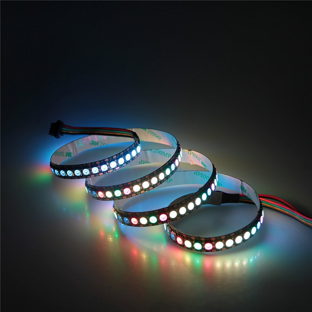 ALITOVE 3.3ft 144 Pixels WS2813 (Upgraded WS2812B) Individually Addressable Programmable 5050 SMD RGB LED Flexible Strip Light Non Waterproof 5V DC (Black PCB)