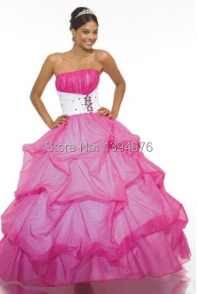 2d0d274cd Get Quotations · Free shipping hot selling charming hot pink sequined  backless quinceanera dresses 2015 vestido de15 anos vestidos