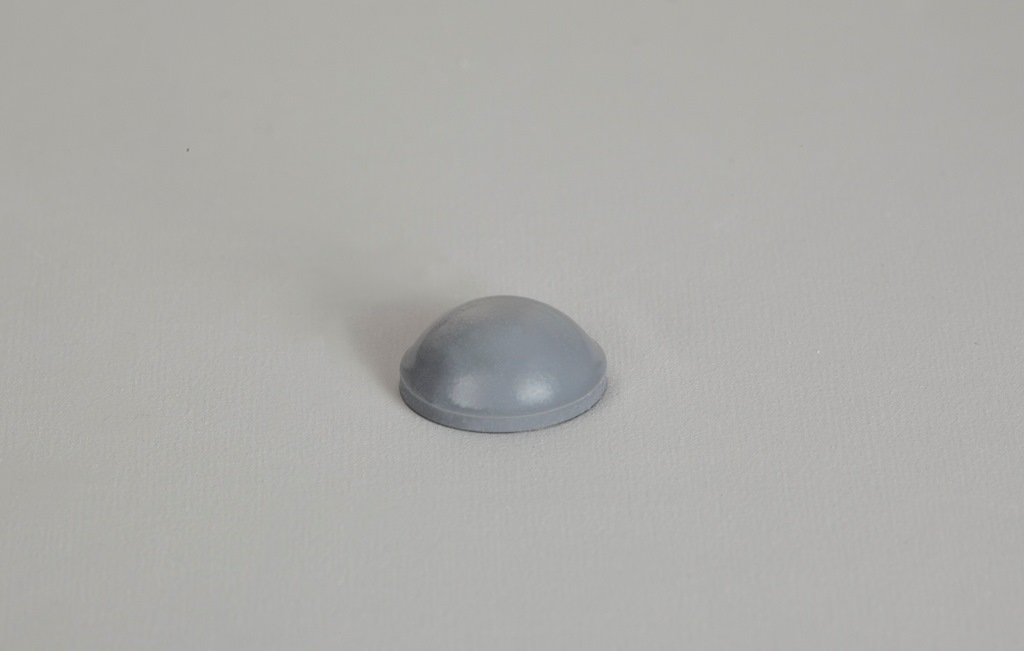 """Round Self-Adhesive Rubber Bumper Feet, Stops, and Spacers .375"""" inches (9.5 mm) x .150"""" inches (3.8 mm) - 7,200 pcs/box - BS12 Grey"""