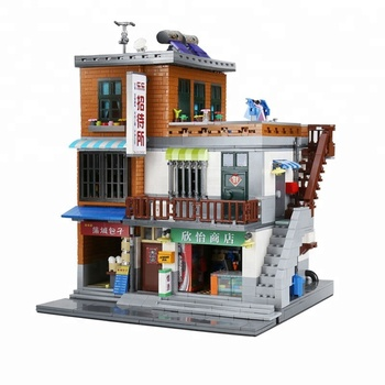 Super September XingBao Genuine Creative MOC City Series The Urban Village Set Building Blocks Brick Educational Toys Model Gift
