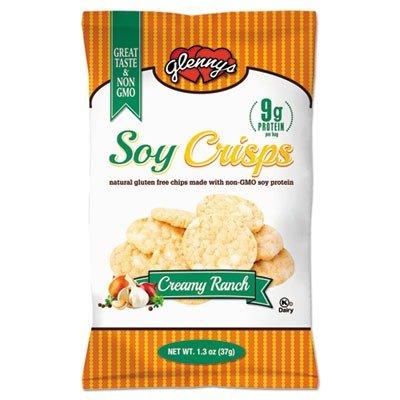 GLN 9724 Soy Crisps, Ranch, 1.3oz Single-Serve Bag