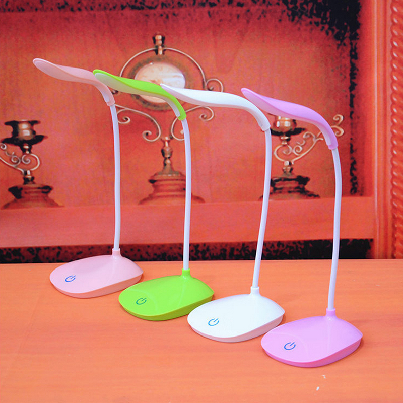 USB Rechargeable Flexible Gooseneck Eye-caring Table Light Touch Control Portable Reading Table Lamp For Children