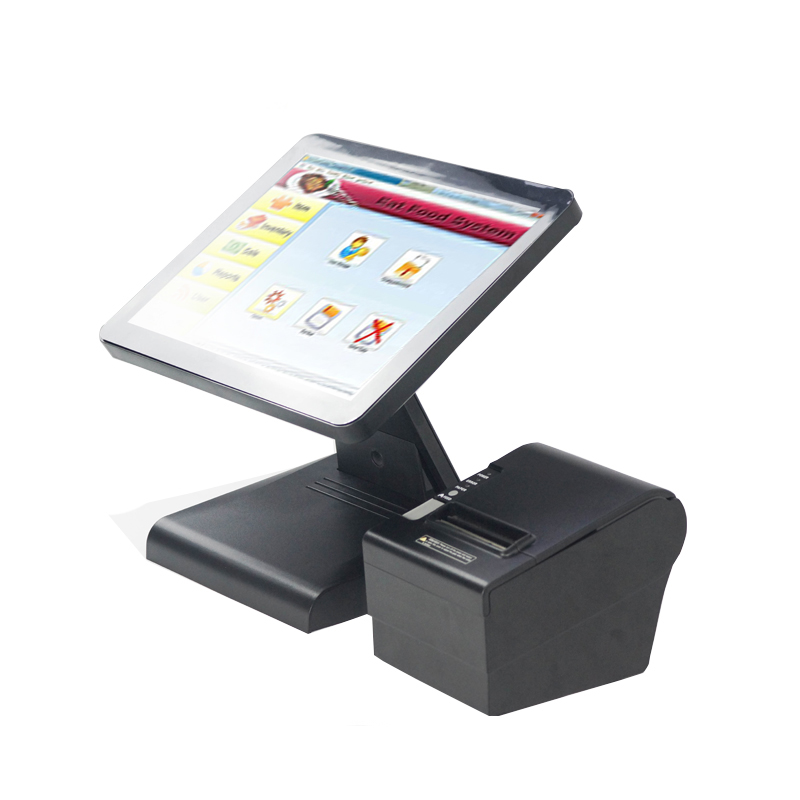 Fast speed I3 processor Point Of Sale touch machine electronic cash register all in one pos with pos 80250 printer