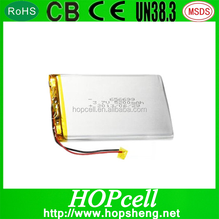 3.7 V 5000 mAh Rechargeable Lithium Polymer Battery