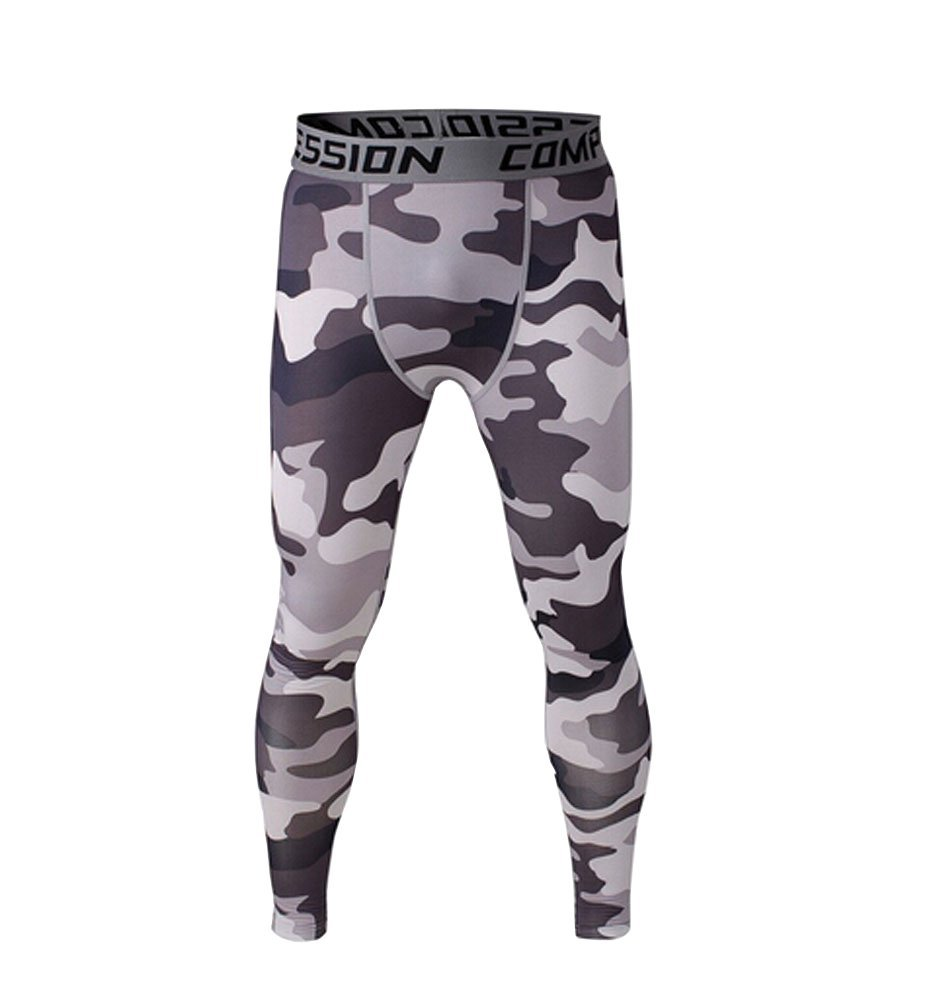 bb0fb3c042 Get Quotations · 1Bests Men and Youth Boy Fitness Compression Pants Running  Tights Length Pants Leggings (XXL,