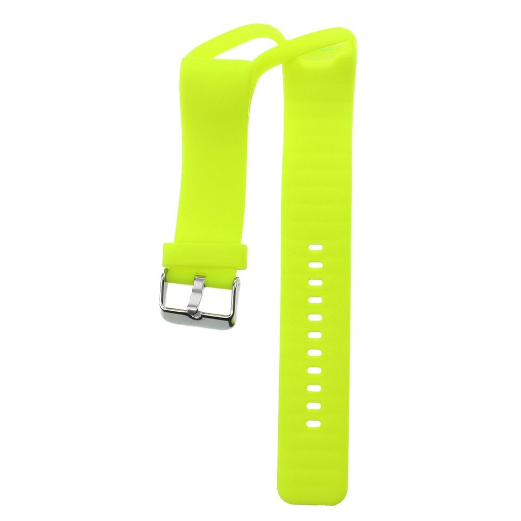 Dovewill Sport Silicone Watch Band Wrist Strap with Buckle For Polar A360 Smart Watch Bracelet - Fluorescent green