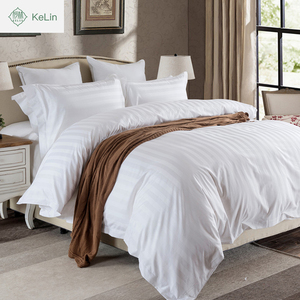 hot cake wholesale normal standard 3cm satin stripe hotel bedding set