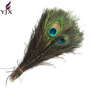 25-30cm high quality full eye artificial indian peacock feathers