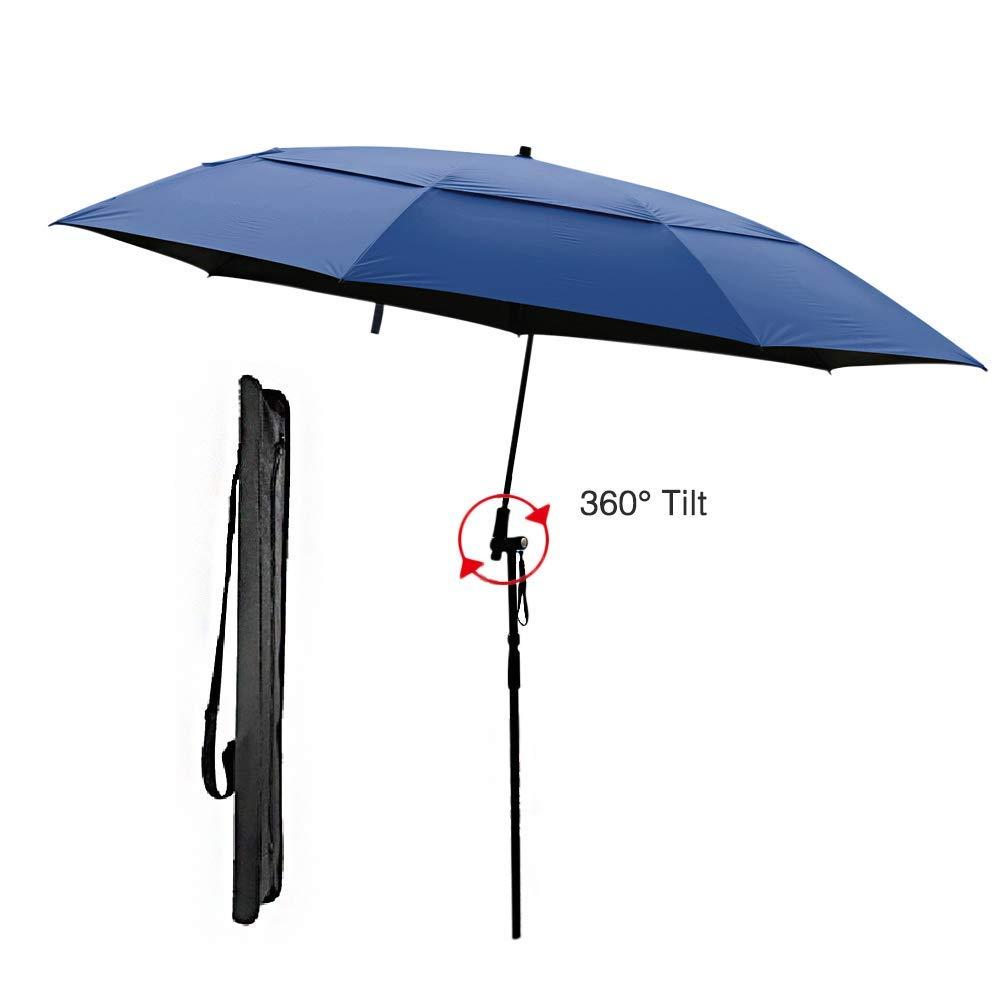 Get Quotations Beach Umbrella Portable Outdoor Sun Beachs Umbrellas 100 Antiultraviolet Waterproof 360 Tilt