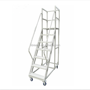 Iron Safety Step Ladders with Handrail,Workshop Ladders