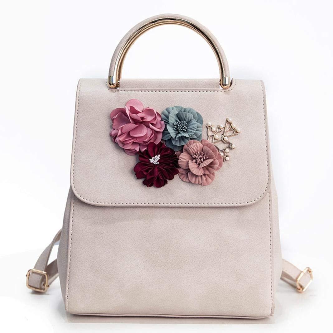Womens Handbags Shoulder Bags TOOPOOT Ladies Floral Backpack Leather Shoulder Top Handle Tote Bag
