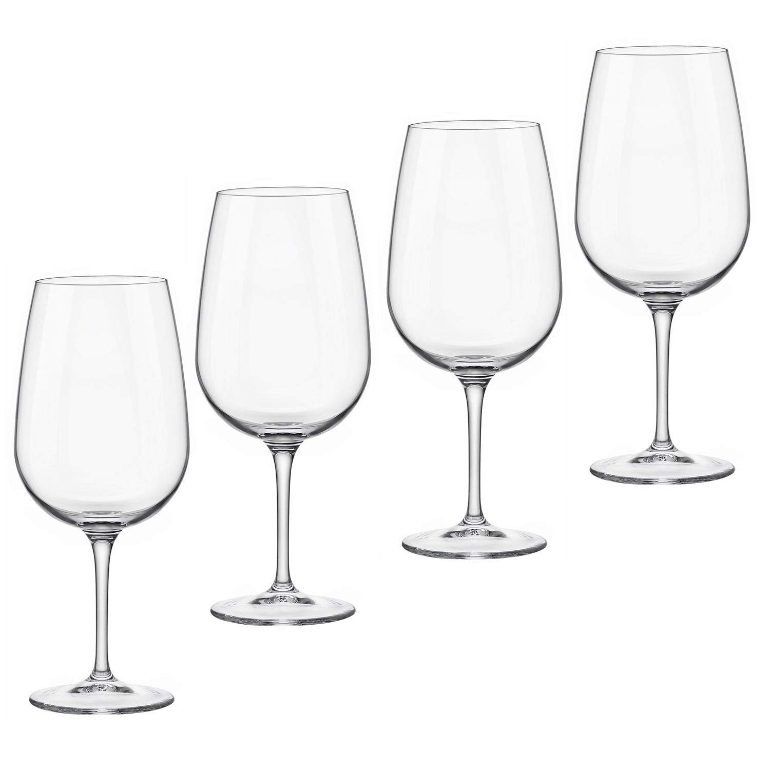 Bormioli Rocco Spazio 21.75 oz. Extra Large Wine Glass - Set of 4 - Great for Red Wine and White Wine - Great for Entertaining and as Gift - Lead Free Made in Italy Wine Glasses