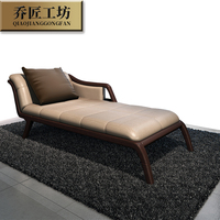 Luxury Good Quality Creative Design Bedroom Furniture Single Size Wooden Leather Bed