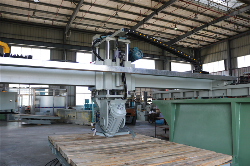 rotating and tilting blade bridge saw machine automatic cutter machines for marble granite slab processing overseas service sale