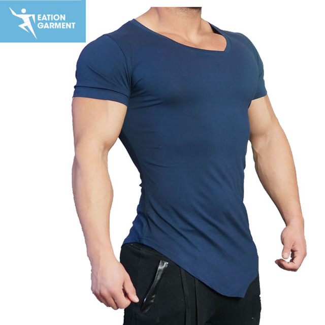Navy Blue Fitness T Shirts Fitted Gym Shirts Mens - Buy Gym Shirts,Dry Fit  T Shirt,Spandex Shirt Product on Alibaba com
