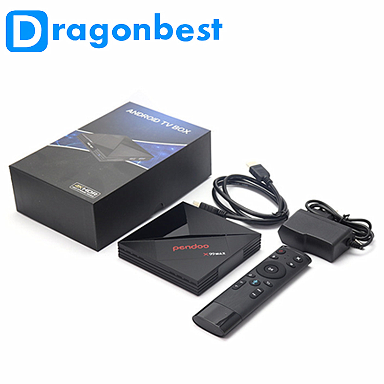 cable tv Pendoo x99 max Rk3399 4G 32G android 7.1 internet tv smart tv box with HD satellite receiver