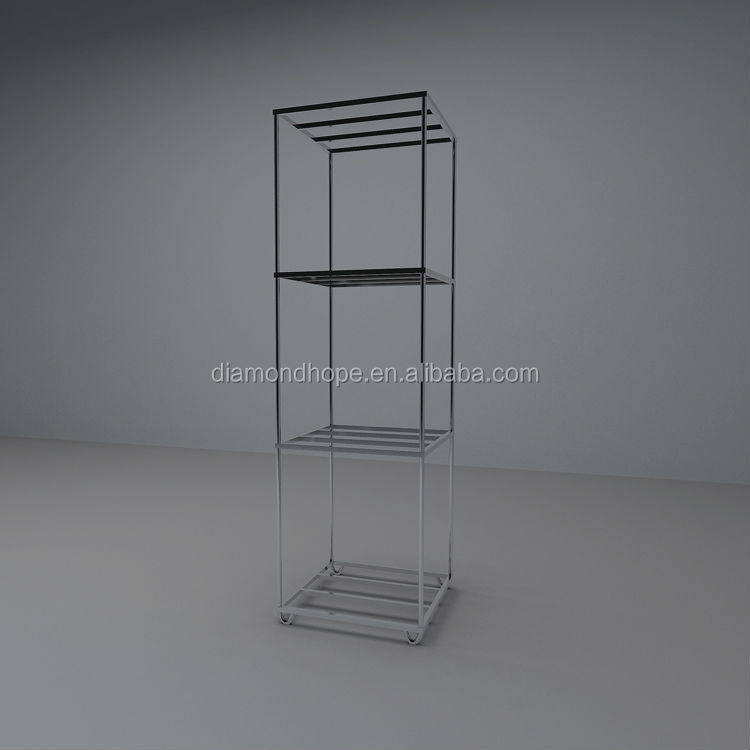3-Cube chrome wheel display rack, display rack for wheels (ZW-R450)