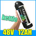 48V 12AH Kettle Cylindrical Aluminum alloy Lithium Battery Pack 13S 54 6V Electric bicycle Scooter 48