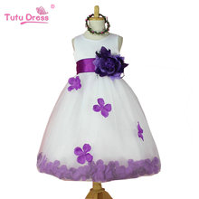 New arrival flowers fashion cute girls dress fashion princess tulle dresses children tutu for girls free shipping