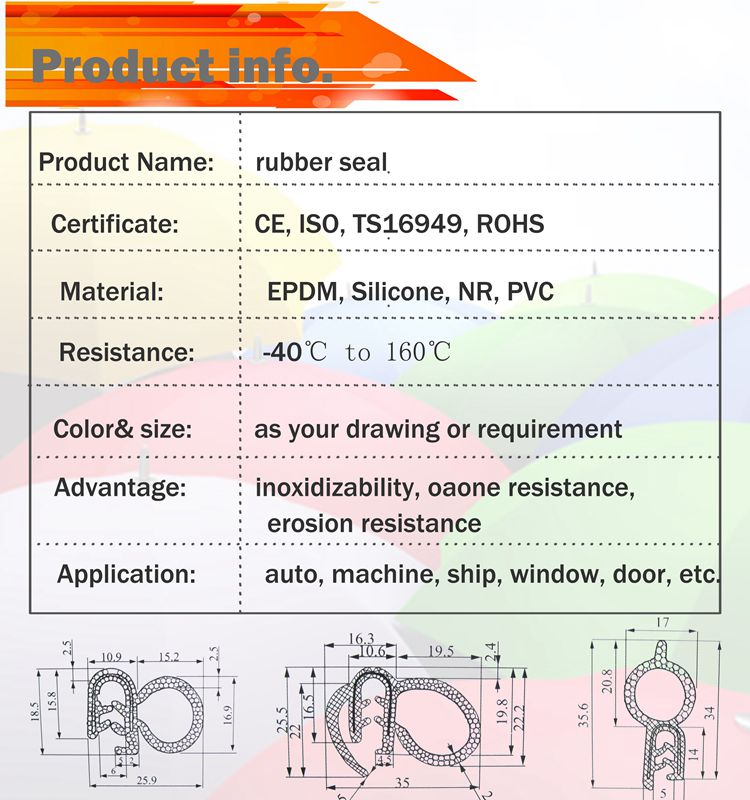 EPDM window and door rubber protective strip