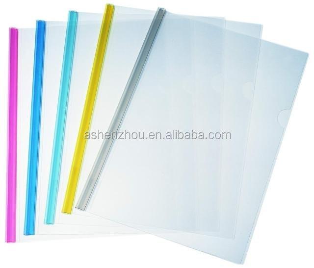 Promotional cheap custom office stationery supplier report cover slide bar file folder plastic paper binders