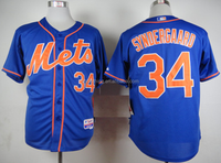 New York Mets Noah Syndergaard #34 Blue Cool Base Jersey